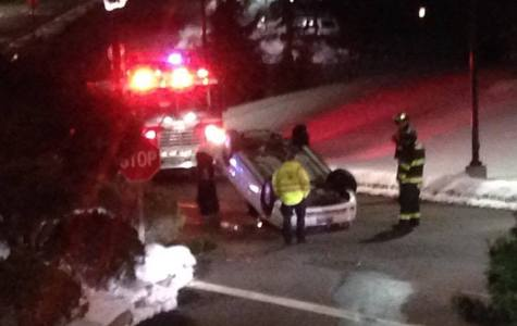 Student's car flips over on York Hill campus