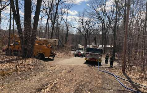 Brush Fire on York Hill Campus