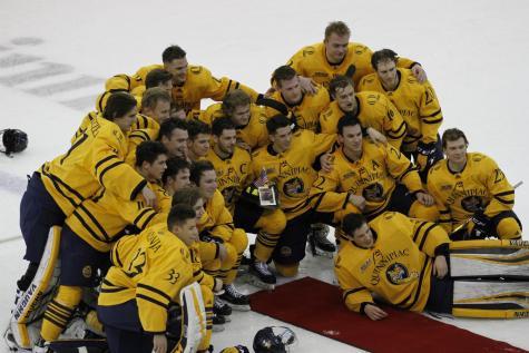 Quinnipiac men's hockey blanks Yale 4-0 in Heroes Hat game