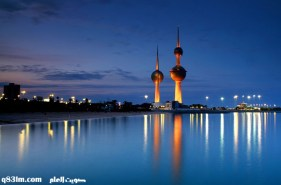 أبراج الكويت ليلا
