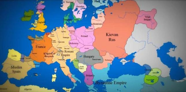 Amazing Time-Lapse Map of Europe from 1000 AD
