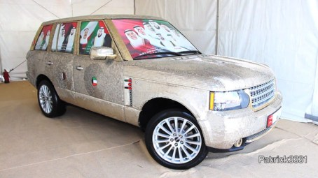 Range Rover Covered with 57.412 Coins
