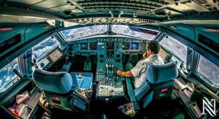 A Beautiful Cockpit Photos From Inside An Airplane Cockpits By Karim Nafatni