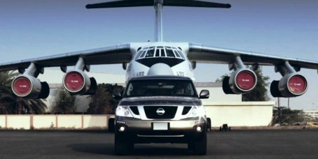 Nissan Patrol Sets World Record for Pulling Plane