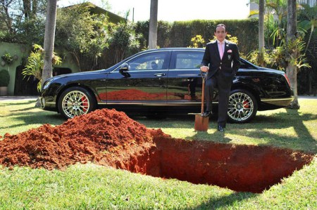 Businessman Wants To Burry His New Bentley
