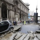Submarine Breaks The Surface of a Milan Street