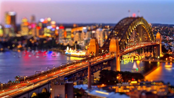 Tiny Sydney Beautiful Tilt-shift Video