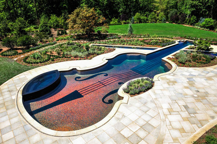 Dazzling Violin Shaped Swimming Pool 4