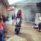 Stunt Rider Sends His Bike Into Swimming Pool