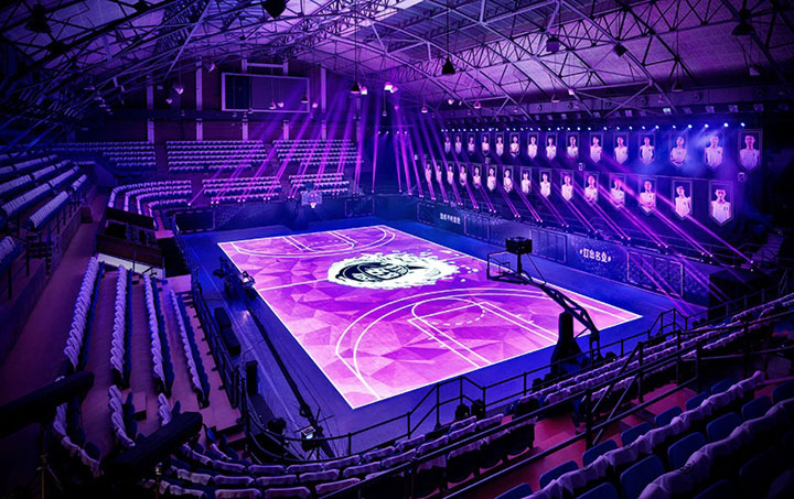 Nike LED Basketball Court in China