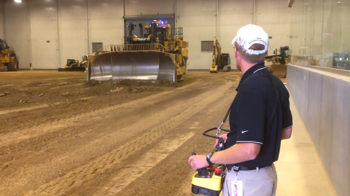 Remote-Controlled Caterpillar Bulldozer