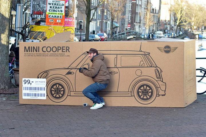 Mini Cooper Boxes In Amsterdam