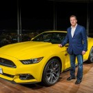 2015 Ford Mustang On Top Burj Khalifa