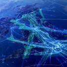 Incredible Visualization Of Air Traffic Above The UK