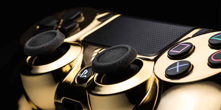 24k Gold PlayStation Controllers 2