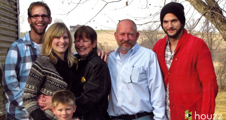 Ashton Kutcher Family Photo