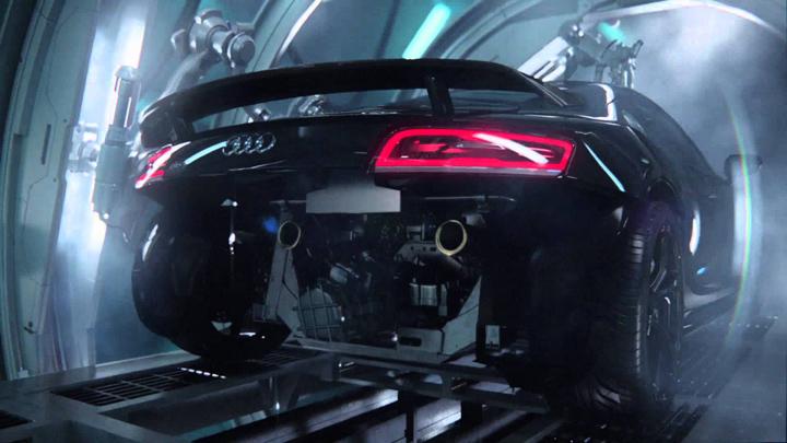 Audi R8 Giving Birth to RS3