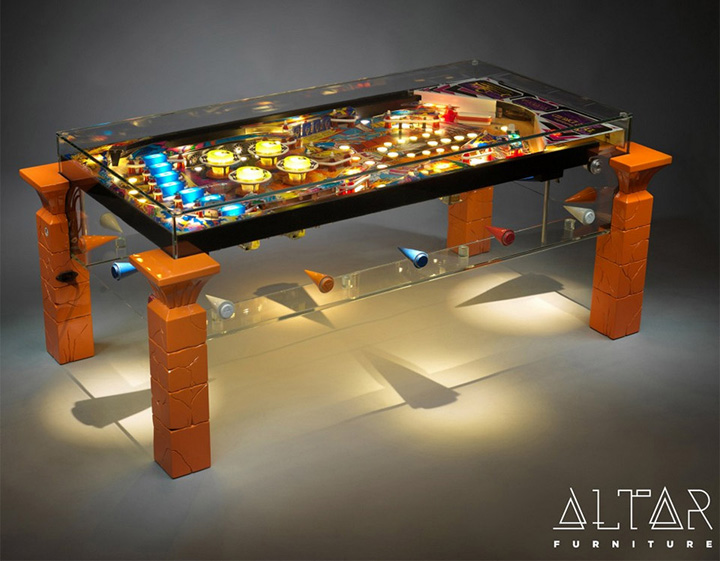 Pinball Machine Coffee Table Furniture 2