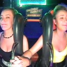 Hilarious Girl Passes Out Twice On Slingshot Ride