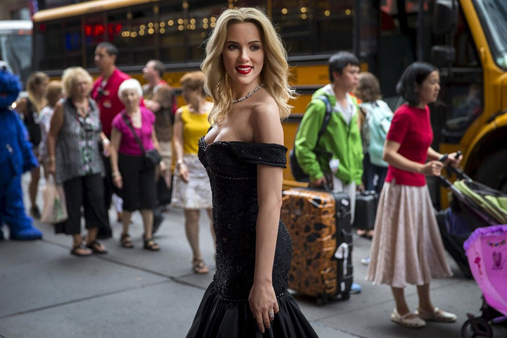 Scarlett Johansson Wax Figure