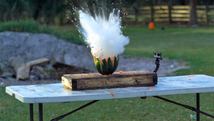 Exploding Watermelon Experiment