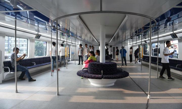 Transit Elevated Bus Interior