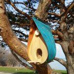 Oxidized Bird Feeder Copper And Cedar Q A Design Toronto