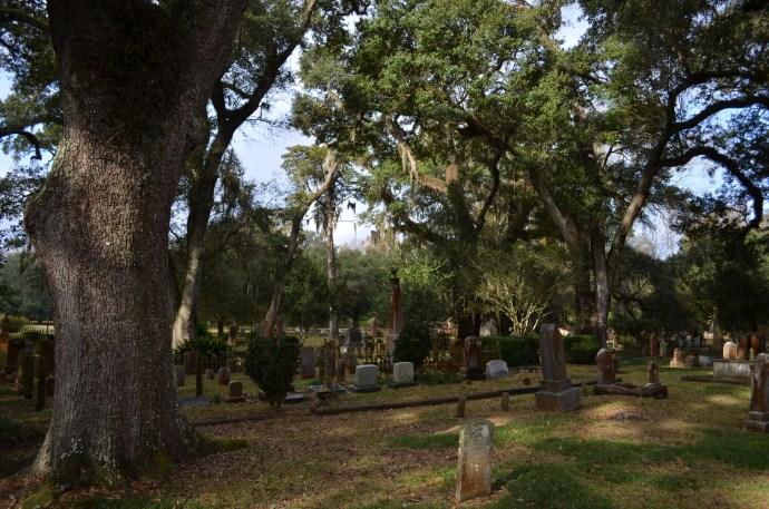 Le paisible cimetière de Saint Francisville