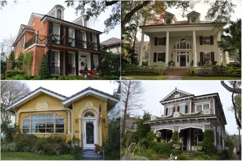 Les jolies maisons dans le Uptown (Magazine St, Jefferson St, etc.)