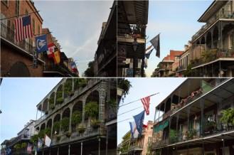 Quelques balcons typiques de la Nouvelle Orléans
