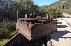 Vestige du petit train du Mount Lowe