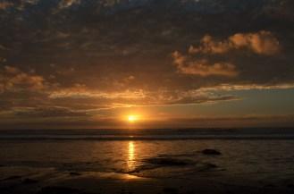 Coucher de soleil sur l'océan Pacifique ... magique, comme toujours