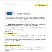 Sensible : Voici le Contrat de fabrication et d'approvisionnement du vaccin Pfizer avec la Commission Européenne !