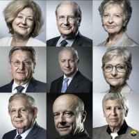 Voici les 9 citoyens qui siègent au Conseil constitutionnel. On laisse à chacun de faire ses recherches sur les conflits d'intérêts et les différentes casseroles que leur justice n'a même pas réussi à étouffer.