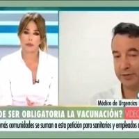 """Le médecin urgentiste César Carballo de l'hôpital """"Ramon y Cajal """" à Madrid (Espagne) déclare sur une chaîne espagnole""""..."""