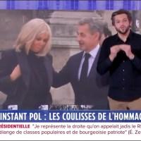 """Surprise, c'est Michèle """"Mimi"""" Marchand, qui organisait l'accueil presse de la messe d'hommage à Bernard Tapie, en présence de Brigitte Macron et Nicolas Sarkozy."""