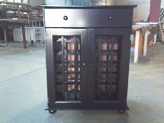 36 Bottle Wine Rack With Glass Doors & Draw