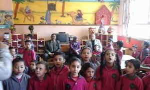 ألفت فرغلى - وكيلة وزارة التربية و التعليم بالقليوبية أثناء تفقدها لعدة مدارس بالقليوبية