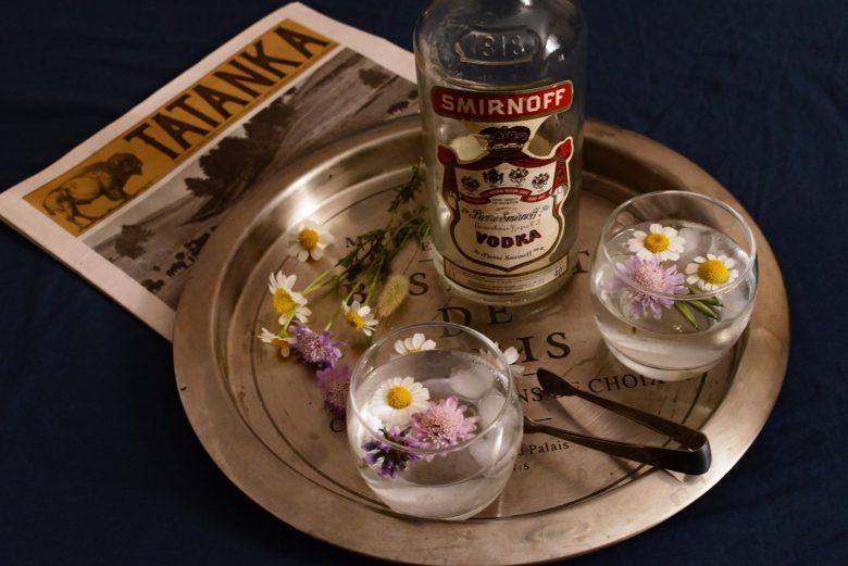 cocktails ; fleurs ; stylisme culinaire