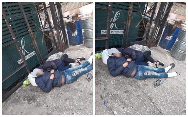 صور موجعة لعائلة مطرودة من منزلها بسبب عدم قدرتها على تسديد الإيجار تنام قرب ردياتير الموتير من أجل التدفئة في صيدا!