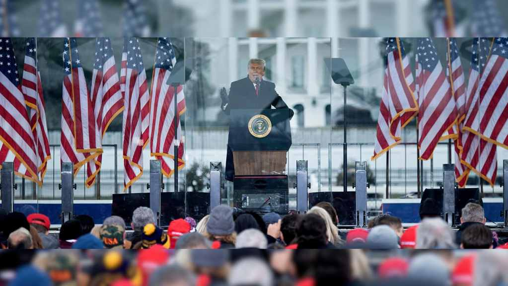 President Trump speaks at White House on January 6, 2021 QAnon.fun