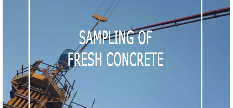 sampling of fresh concrete - BS EN 12350-1:2009
