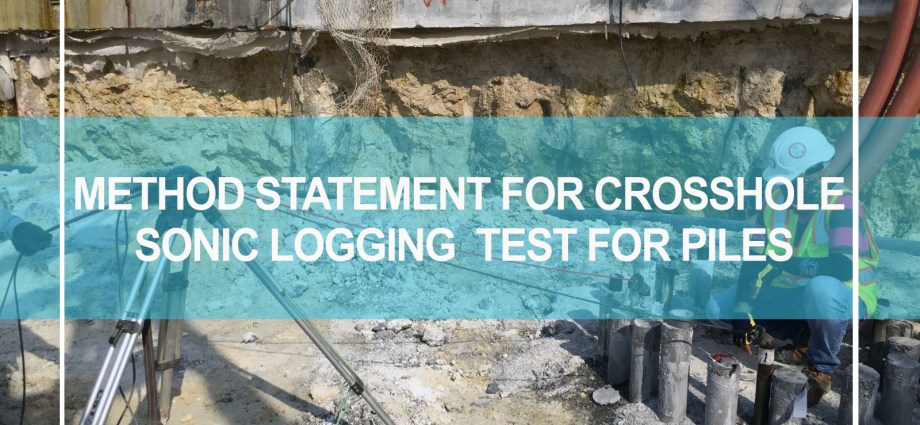 method statement for crosshole sonic