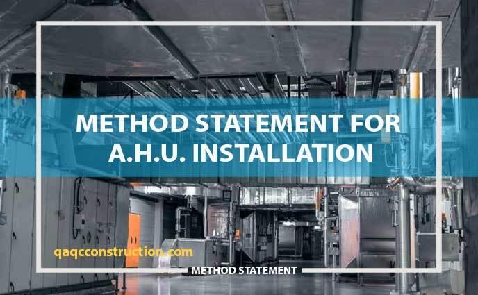 method statement AHU (air handling units)