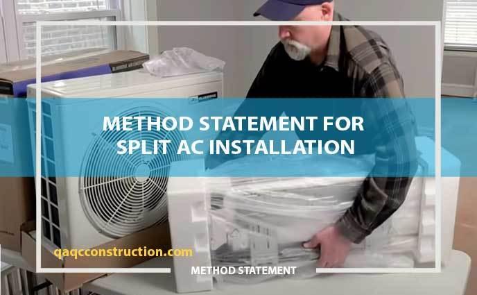 method statement for split AC