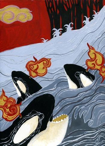 Bobbing whales