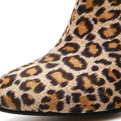Leopard Printed Shoes Women s Snow Boots High Heeled Button Ankle Boots Leather High Heels Sexy 4.jpg 640x640 4