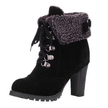 Winter Lace Up High Thick Short Boots Shoes Women Snow Boots Fur Leather High Quality Warm 2.jpg 640x640 2