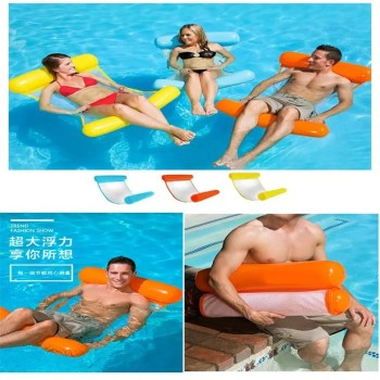 Foldable Inflatable Float Hammock Portable Dual Backrest Floating Row Chair Float Bed in Swimming Pool Float
