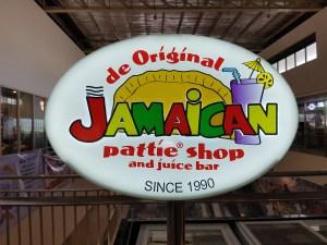 Jamaican Pattie Shop sign